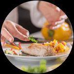 五感に響く婚礼料理種類に富んだ至極の料理