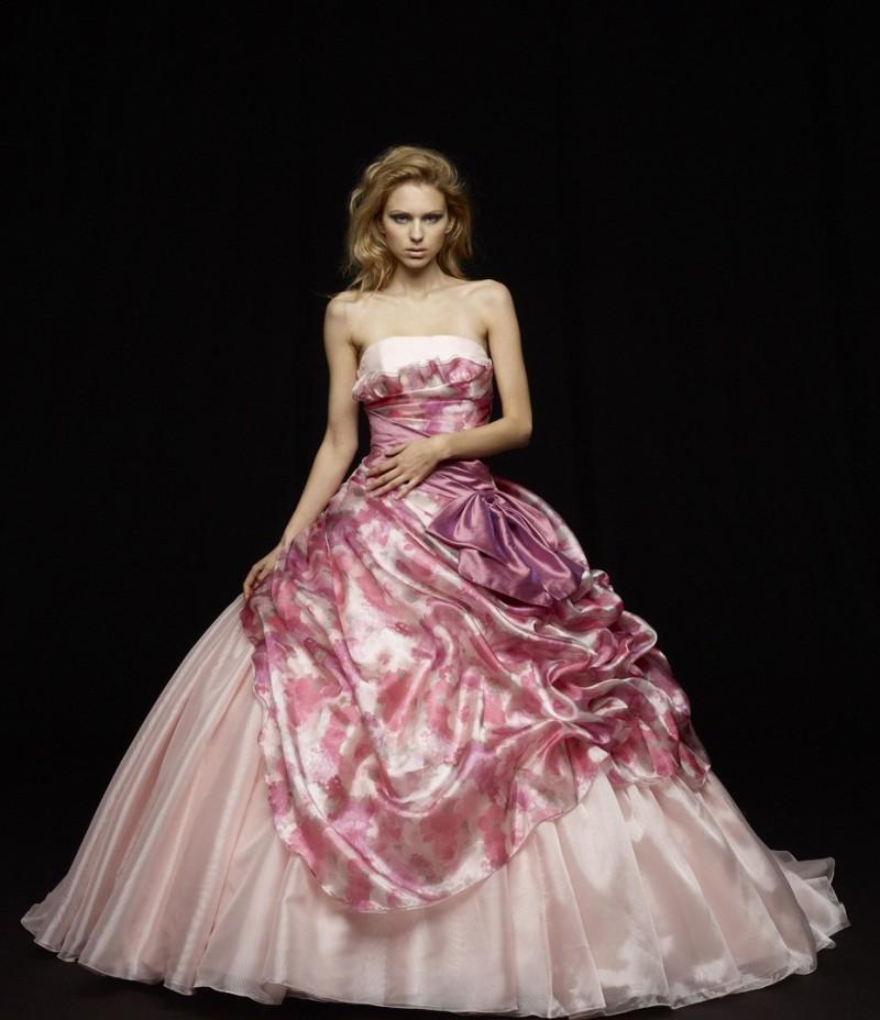 ラベンダー カラー ドレス お色直し 大人可愛い オシャレ ツートン